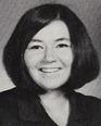 """Roseanne Barr's Junior photo in the 1970  """"Eastonian"""" yearbook East High School in Salt Lake City, Utah."""