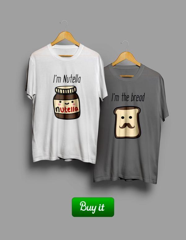 || Вот оно, идеальное сочетание. Вам ничего никому не нужно доказывать. Вполне достаточно того, что вы уже вместе. И этих футболок. #together #love #couple #husband #wife #forever #heart #любовь #girlfriend #boyfriend #Tshirt #любовь #пара #bread #Nutella