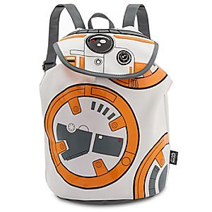 BB-8 Fashion Backpack - Star Wars: The Force Awakens | Disney Store Let the good times roll with this faux leather BB-8 Fashion Backpack with embroidered features of the lovable droid and bright orange lining for intergalactic style.
