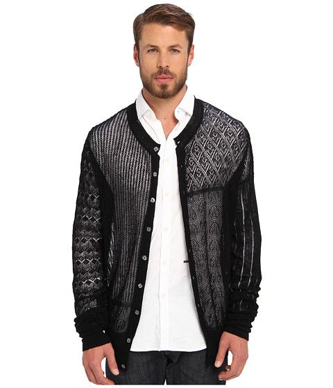 Vivienne Westwood MAN Gold Label Patchwork Lace Cardigan Black - 6pm.com