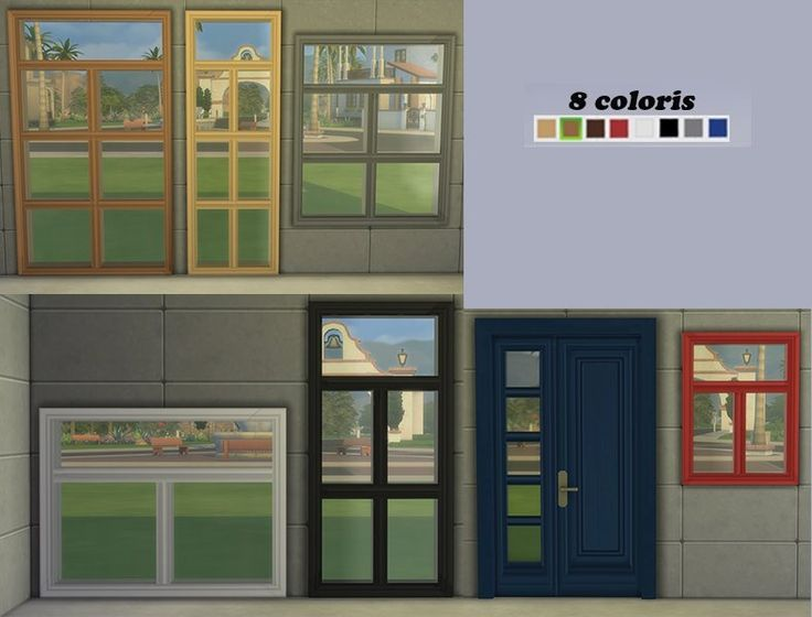 Sims 4 Set Alanis fenêtres portes