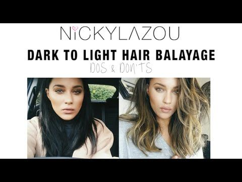 Going from Dark to Light Hair... Nicky Lazou. follow this woman! she does amazing hair and her accent is perfect!