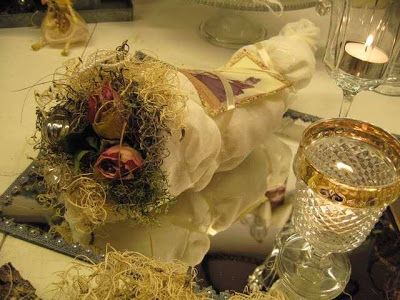 """266/5000 A little chicken wire shaped like a cone, then I have """"wrapped"""" thin voile fabric around the cone, I have used some glue from the glue gun and a pair of pins to put the fabric in place .. A little tape an old picture Icelandic moss roses and a single Christmas ball ♥"""