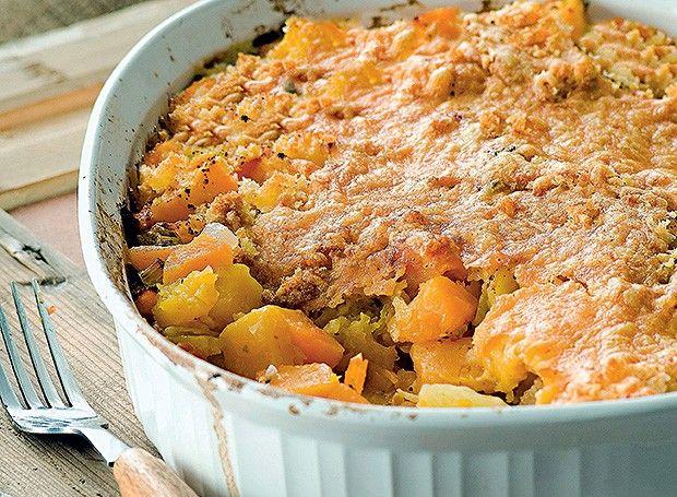 torta abobora, batata, cenoura