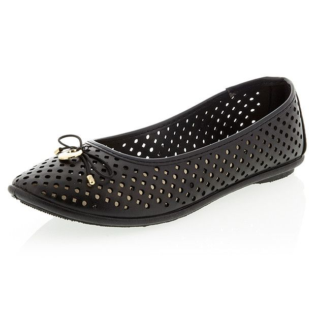 Fuji Ballet Flat Shoes - Black (11)