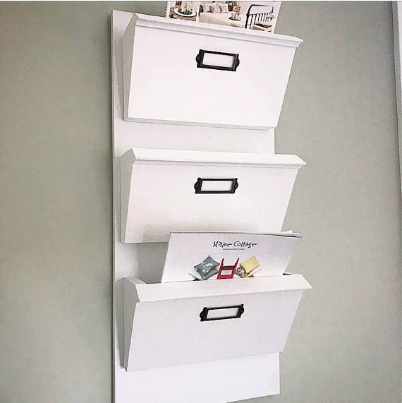 Magazine Rack With FOUR Compartments Command Center Office