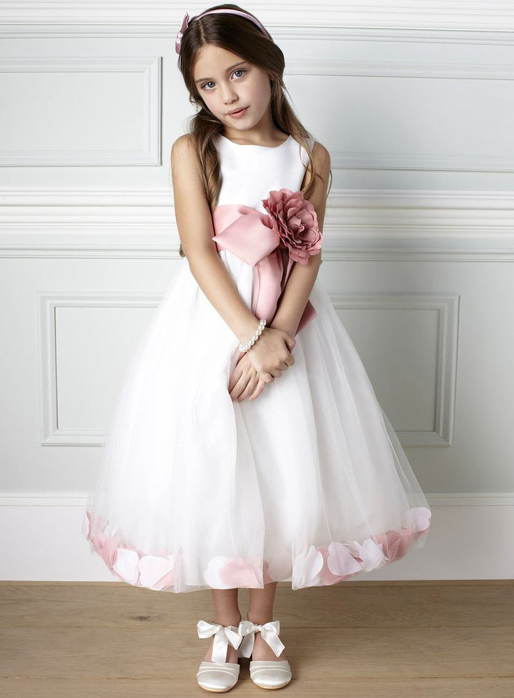 Pretty flower girl dress about 100 from uk page boy for Dusky pink wedding dress
