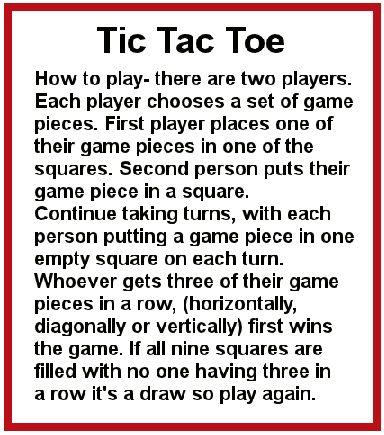 Tic Tac Toe Rules Unifeedub