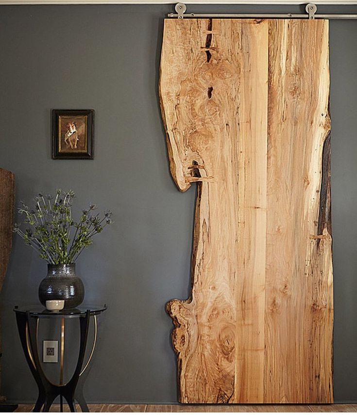 This love edge wood door is fantastic. May be what will work best in our kitchen sitting room.