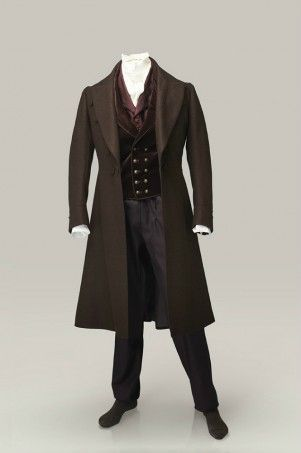 Malet's 'new' frock coat (see scene with tailor).  There are no pleats or gathers.  The cut would tend to highlight an athletic walk.: