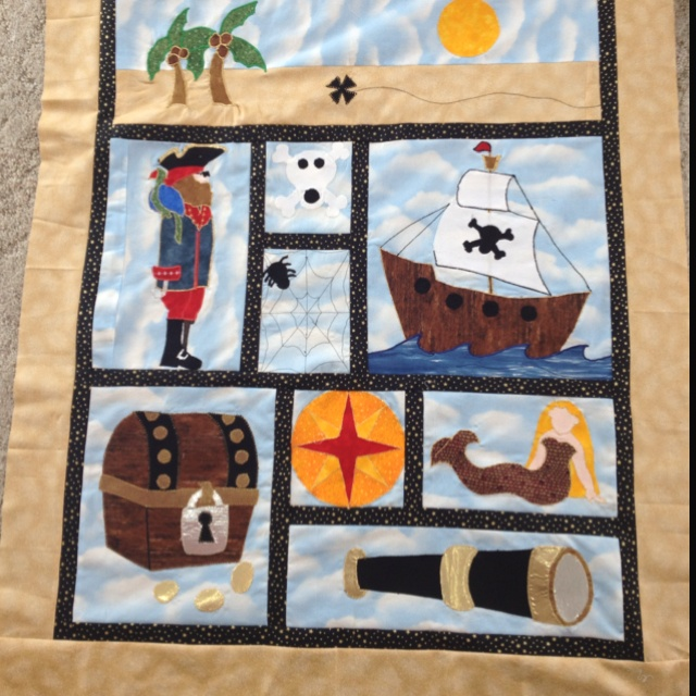 Arg, it's a pirate quilt!