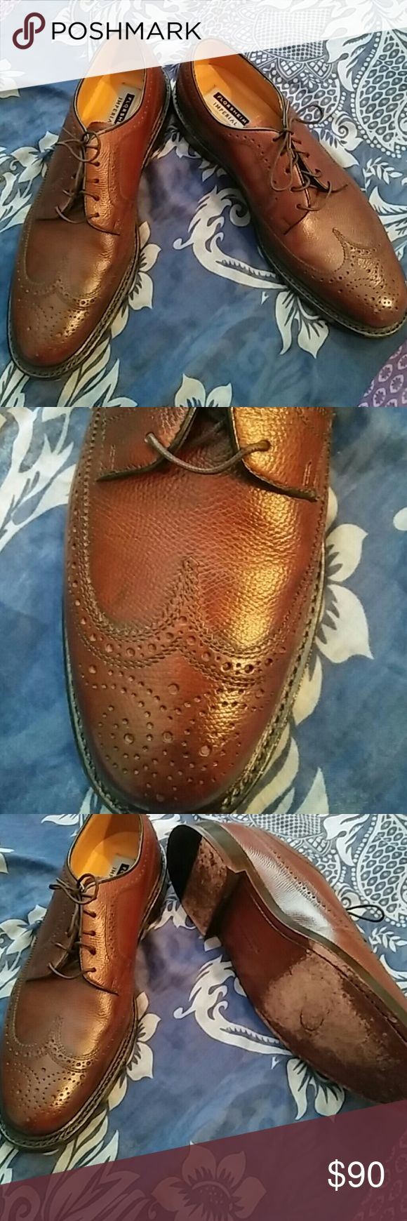 Florsheim Imperial,Brown wingtip Oxfords Highest of quality dress shoe Impeccable detail and quality Heavy quality leather and sole Lightly worn sole Sole is leather Interior is clean Has stamp of authenticity inside Retails over $320.00 new Florsheim Shoes Oxfords & Derbys