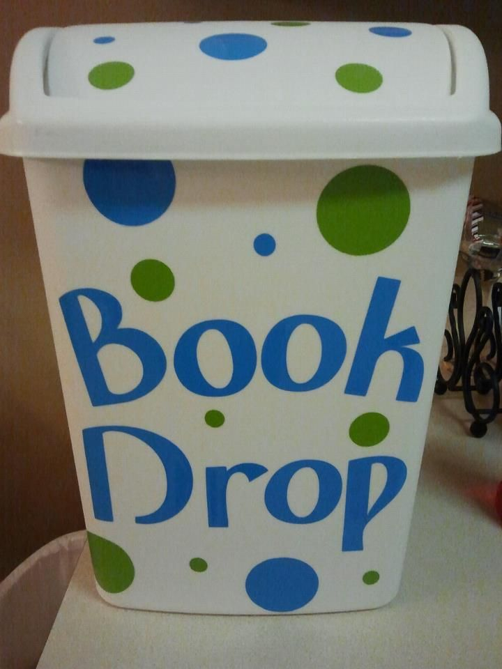 Book Drop for classroom library is a great idea to have in a classroom for the students to drop once they are done reading a book.