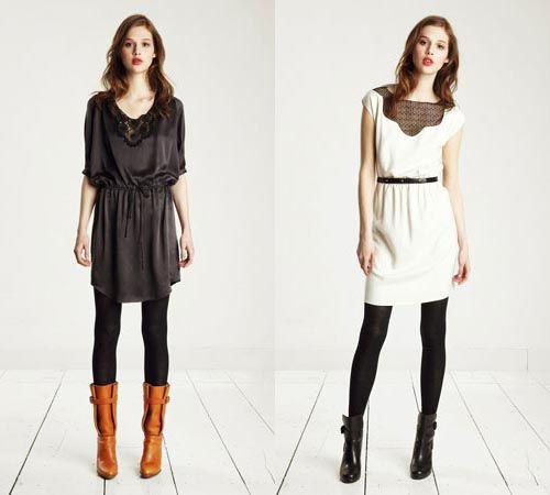 Winter dresses: Winter Looks, Winter Dresses With Boots, Low Boots Outfits, Winter Outfits, Dresses Outfits, Brown Boots, White Dresses, Dresses Codes, Fall Dresses