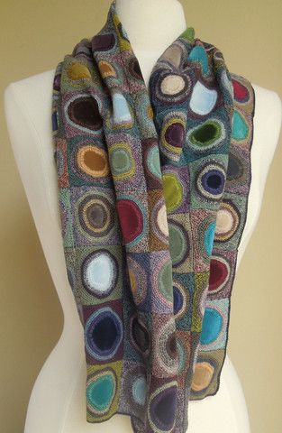 Coeur velvet scarf by Sophie Digard at The French Needle