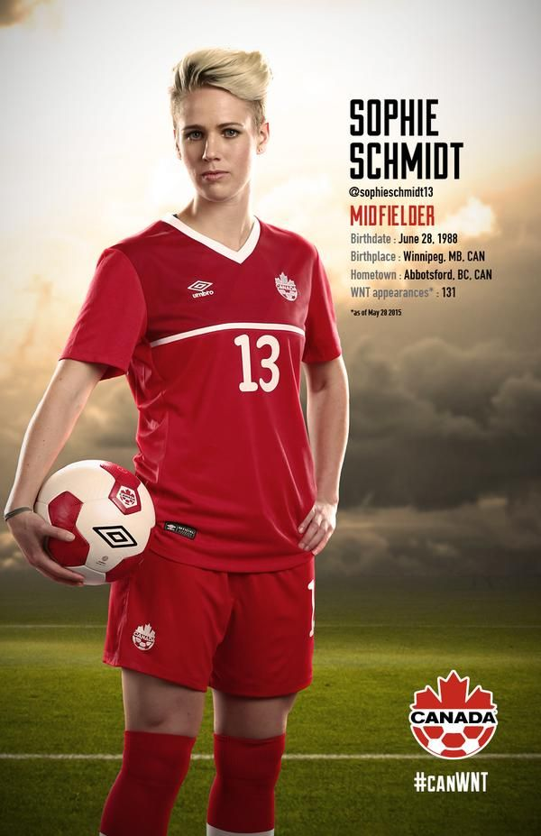 Sophie Schmidt #FIFAWomensSoccer #CanadaRED Happy Birthday my beautiful angel!!!!
