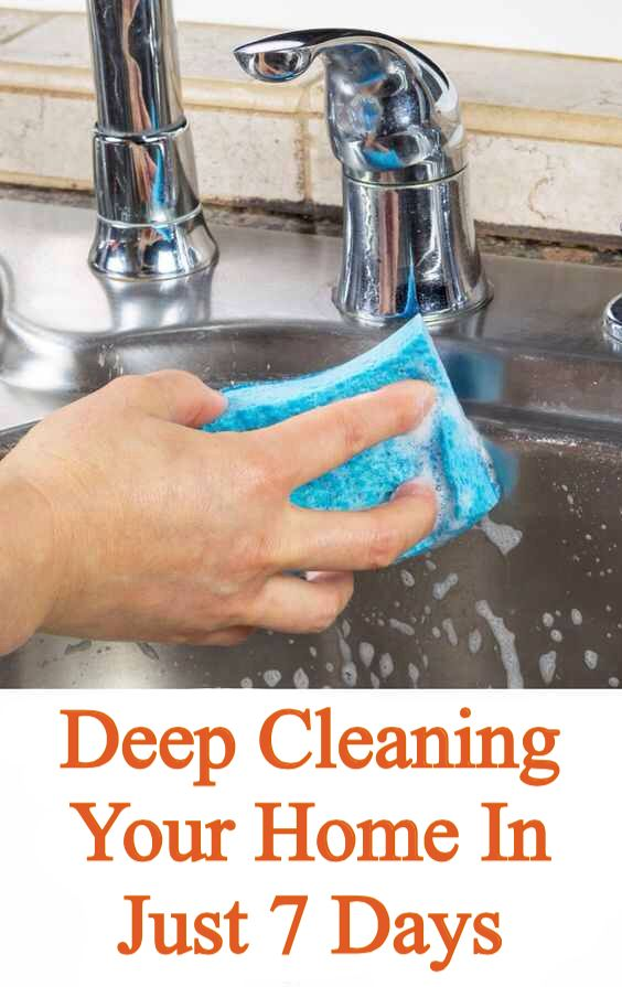 'Ways for Deep Cleaning Your Home in 7 Days...!' (via pennypincherjenny.com)