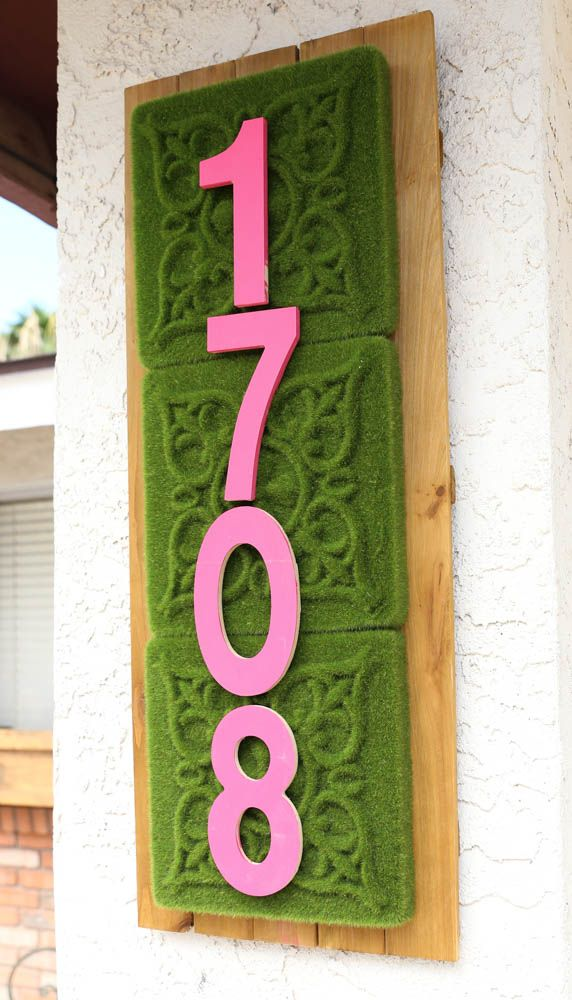 How to Make a DIY address sign from MichaelsMakers Classy Clutter