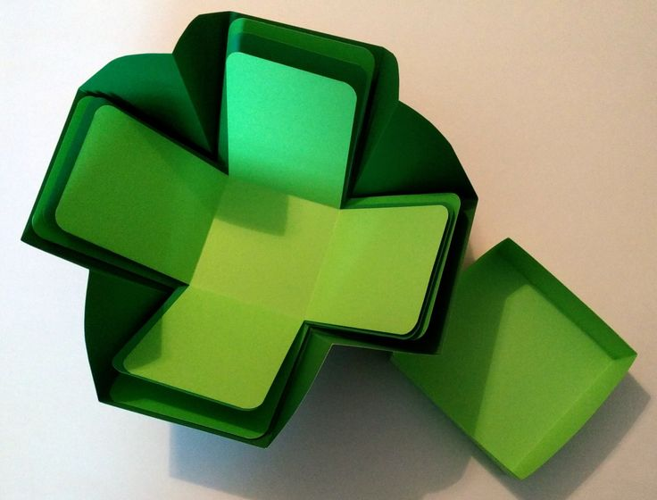 """Explosion Box, Stash Buster Blarney Shades of Green Explosion Box, 4"""" Cube Explosion Box, St. Patrick's Day Explosion Box by tangledmoons on Etsy"""