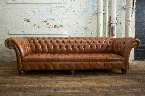 Distressed Vintage Dark Tan Leather