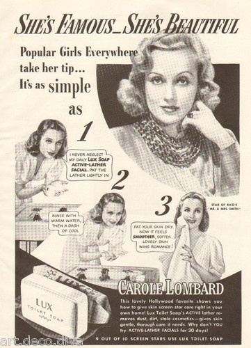 1940s Vintage Lux Soap Carole Lombard Movie Star Hollywood Beauty Bathroom Ad | eBay