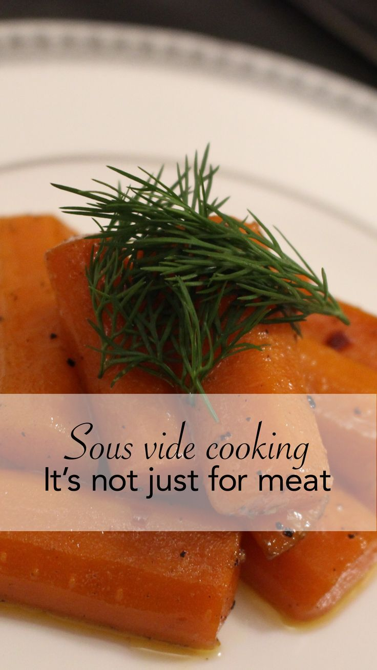 People are going nuts over sous vide cooking.   I tried out one of these bad boys and what I found out shocked me.   The carrots were the BEST.   That's right. Not the meat, but the carrots.   Check out the blog to read my review.