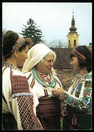 Egyházaskozár; Csángó népviselet (Baranya megye) | Képeslapok | Hungaricana