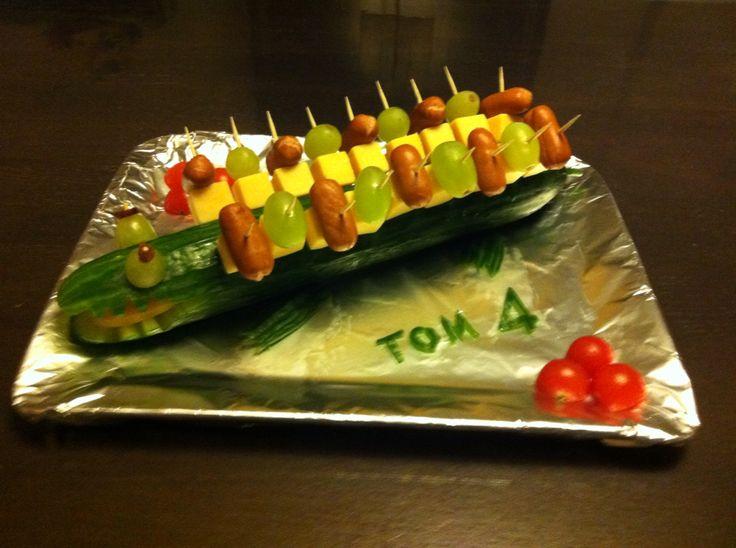Krokodil traktatie voor 4de verjaardag Tom