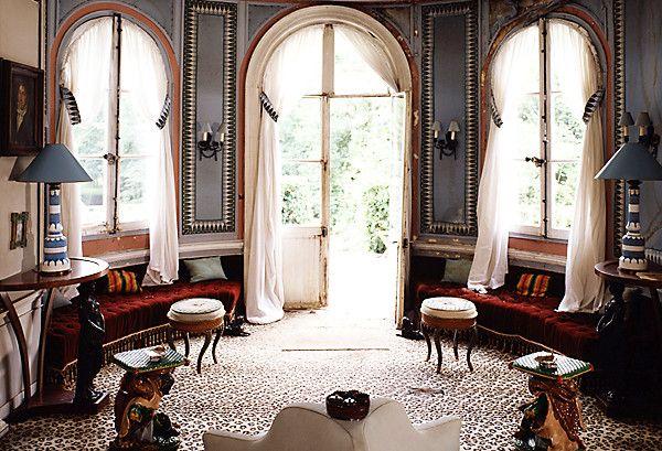 No one loved a leopard rug quite like famed French designer Madeleine Castaing (1894–1992).