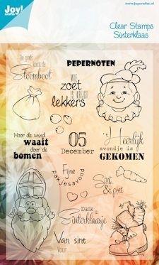 Clear stamp Joy (6410/0083) Sinterklaas