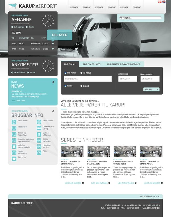 Karup Airport / re-designed CI and online profile by Bjarne Christensen , via Behance