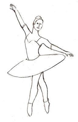 Как нарисовать платье балерины