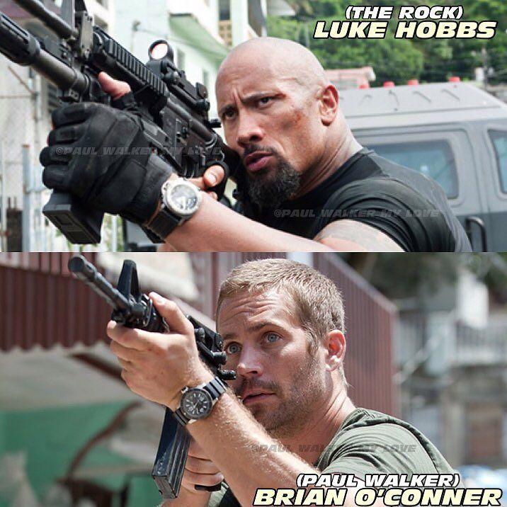 Brian or Hobbs?  •••  @paulwalker @therock #paulwalker #therock #dwaynejohnson #brianoconner #lukehobbs #gun   #wwe #fastfive #hot   #lovepaulwalker   #pa... - Fast&Furious • מהיר ועצבני (@paul_walker_my_love)