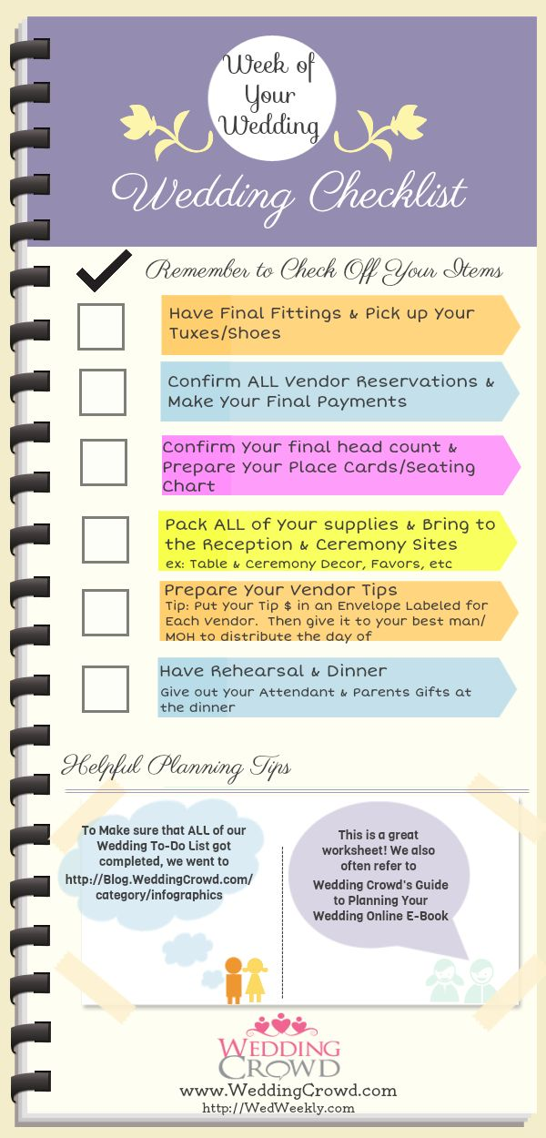 50 best Wedding Planning Checklists for Brides images on ...