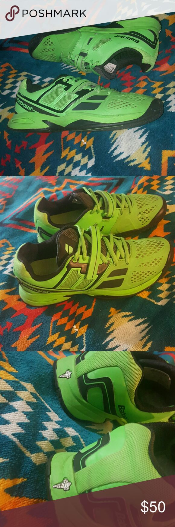 BABOLAT GREEN SNEAKERS US 5 EUR 37 Propulse all co TENNIS SHOES KIDS 5 babolat Shoes Sneakers