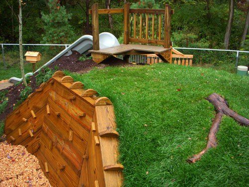 Natural Playground ideas More