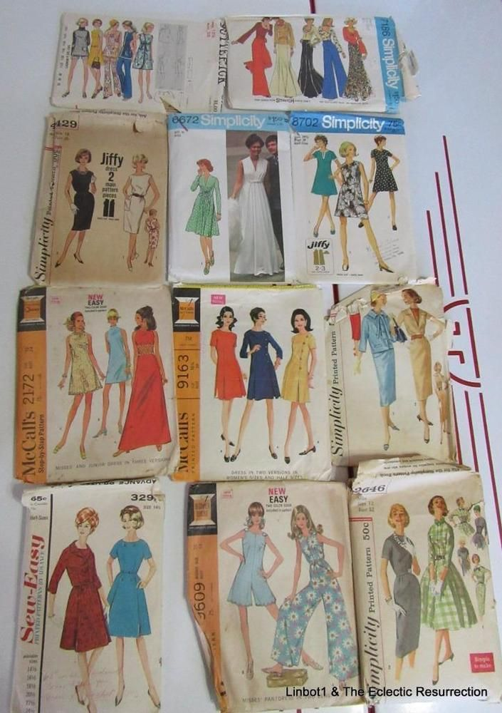 200 Vntg 60s-70s Women's Clothing Patterns Simplicity McCall's Butterick Vogue
