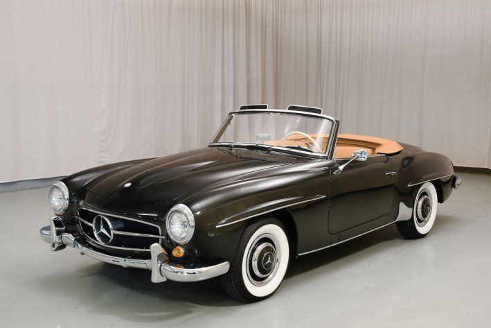 1958 Mercedes-Benz, 190SL  159500.00 USD  When Mercedes-Benz released the fabulous 300SL coupe in 1954, it was a success, although sales were limited to those who could afford a car that cost three-times what the new Corvette roadster cost. One of the greatest marketing minds in America's post-war import automotive world was Max Hoffman. In the fall of 1953, at a special board meeting in Stuttgart, he recommended tha ..  http://www.collectioncar.com/detailed.php?ad=61679&category_id=1