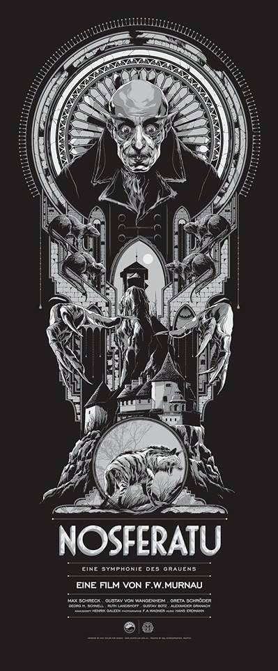 Nosferatu 1922 Max Schreck Vampmire Count Graf Orlok is pursued by Hutter. Based…