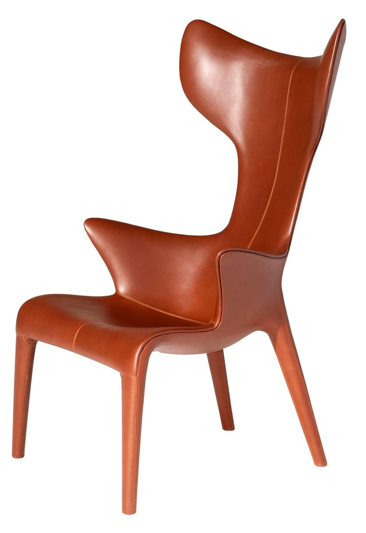 Eugeni Quitllet and Philippe Starck Lou Read Armchair - Designed for Le  Royal Monceau Raffles Paris hotel. Fiberglass structure with brown Q  leather or dark ...