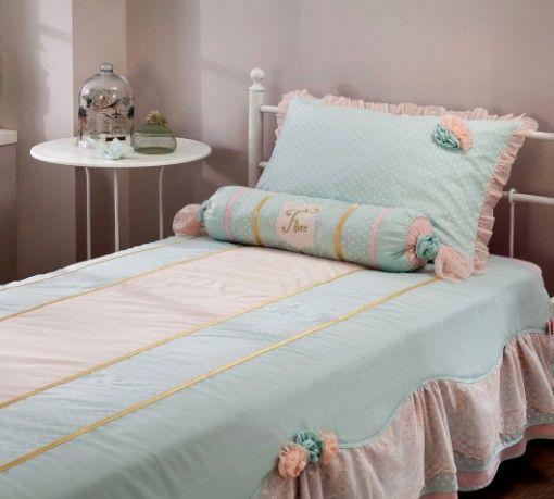 Flora ágytakaró #gyerekbútor #bútor #desing #ifjúságibútor #cilekmagyarország #dekoráció #lakberendezés #termék #ágy #gyerekágy #romantic #lány #hercegnő  #ágytakaró