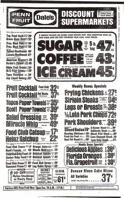 vintage grocery ad