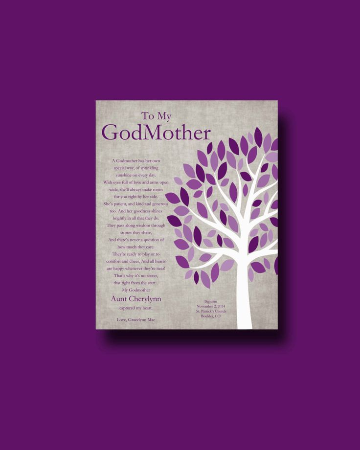 GODMOTHER gift Personalized gift for Godparents by WhisperHills