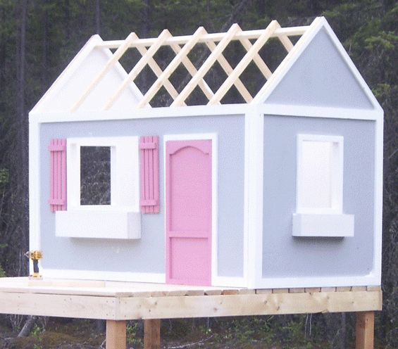 Ana White | Build a Playhouse Roof | Free and Easy DIY Project and Furniture Plans  Als we wat plaats over hebben in de tuin ...