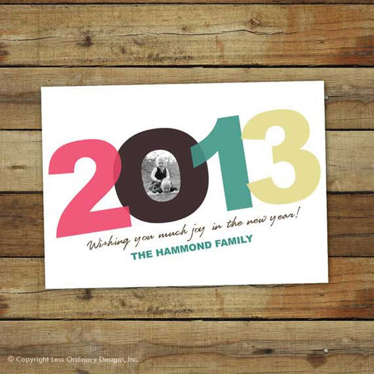 25 best happy new year 2014 images on pinterest new year photos items similar to modern happy new year card custom printable 2017 new year card printable new year photo card on etsy reheart Gallery
