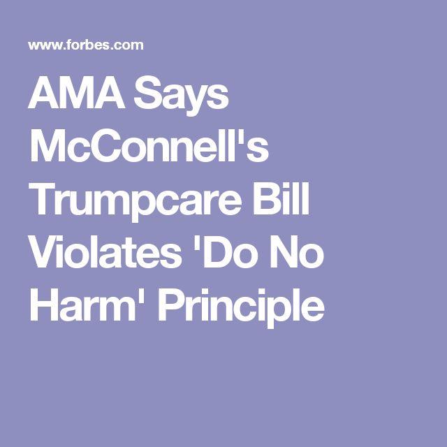 AMA Says McConnell's Trumpcare Bill Violates 'Do No Harm' Principle