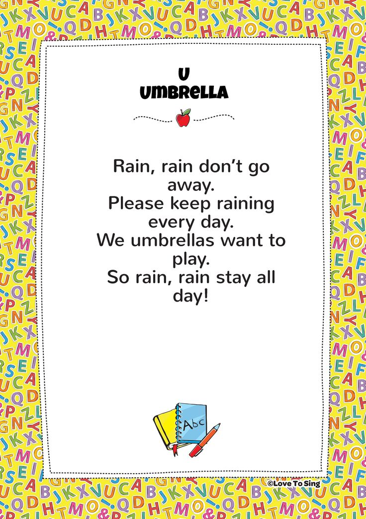 Lyric rain rain go away lyrics : 9 best Baby Songs images on Pinterest | Baby songs, Kids video ...