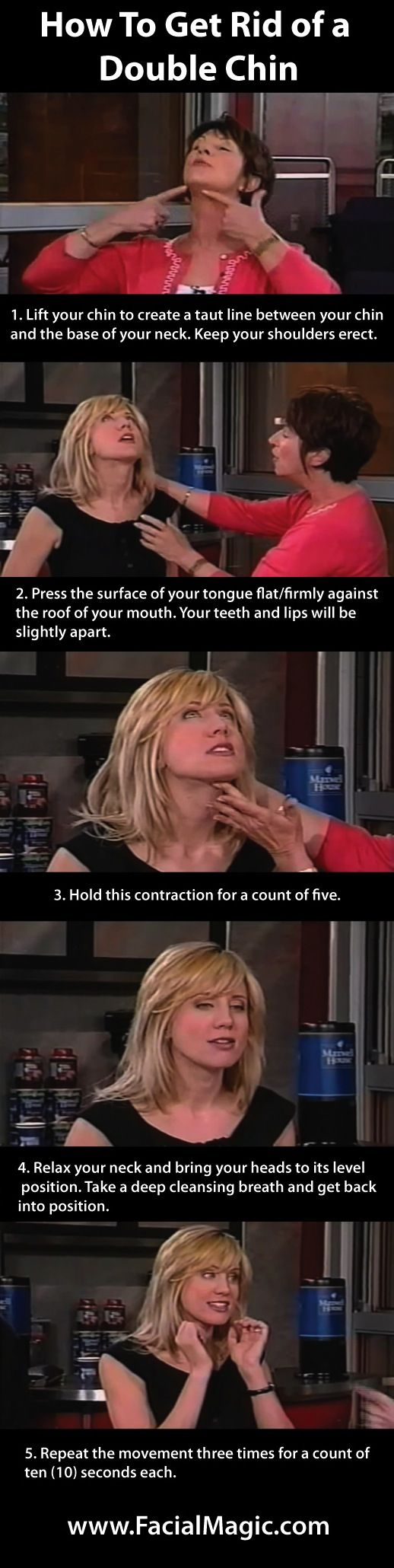How To Get Rid of a Double Chin Doing Facial Exercise www.FacialMagic.com Click to view video: http://www.youtube.com/watch?v=LMo85HUsXA4 #facialexercise #facialmagic
