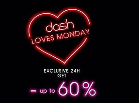Dash Love Monday exclusive 24H get - up to 60% Please contact +62361 3004666 or find our website www.dash-hotels.com