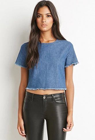 Frayed Denim Crop Top | Forever 21 | #thelatest